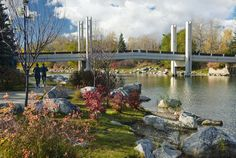 """Path along the Bow River at Prince's Island Park in Calgary..."" Lovely shot. What a great city we live in <3"