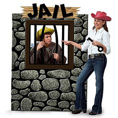 Have great times and take great photos at your theme party using this jail standee.