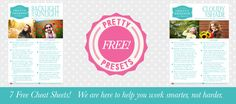 Photographer At Play: Free Cheat Sheets and More!   Pretty Presets for Lightroom