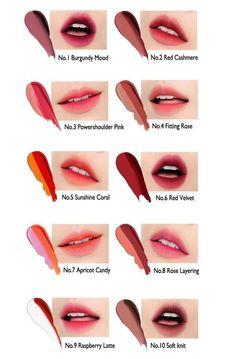 Korean Makeup Tips, Korean Makeup Look, Asian Eye Makeup, Asian Makeup Tutorials, Genius Makeup Hacks, Hd Make Up, Ombre Lips, Gradient Lips, Pink Lips