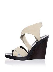 Calvin Klein Collection Women's Fiala Strappy Sandal (Khaki)