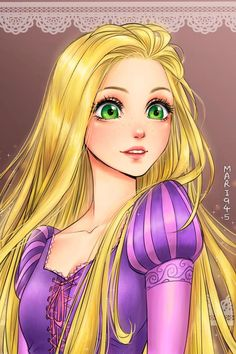 If the Disney Princesses were manga characters (image)