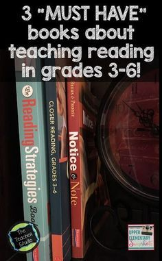 Looking for some inspiration for your reading classroom? Check out these three great professional books and push your reading instruction to a new level.