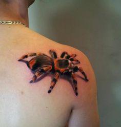 tatuaje realista de tarantula