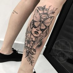 The 35 most beautiful calf tattoos tattoos . - The 35 most beautiful calf tattoos Tattoos … – – mos - Flower Leg Tattoos, Girl Leg Tattoos, Leg Tattoos Women, Sexy Tattoos, Body Art Tattoos, Tatoos, Calf Tattoos For Women Back Of, Calf Tattoo Women, Unique Women Tattoos