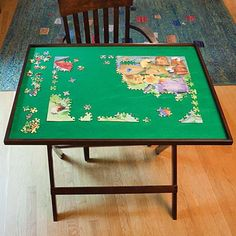 "What a great table for doing jigsaw puzzles! However, I need one just a little bigger. I have a puzzle that is 36"" and this is only 34""."
