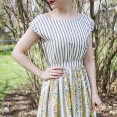 Learn how to make this beautiful vintage style sun dress with this easy…