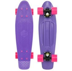 Purple and pink penny board