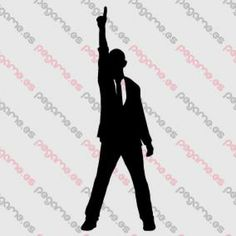 Pegame.es Online Decals Shop  #man #pose #victory #one #vinyl #sticker #pegatina #vinilo #stencil #decal