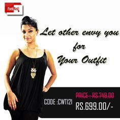 A black balloon style top with braided semi-lather straps is a very stylish combination to opt for add to that a very low price tag for a such high fashioned style-wear.