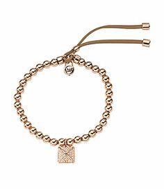 0a3c2e062b Michael Kors Pyramid Charm Stretch Bracelet  Dillards