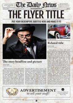 1 Page Newspaper Template Adobe Photoshop (11x17 inch) | Events ...