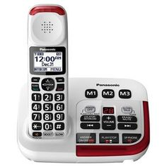 Why the Panasonic Amplified Phone? DECT technology for improved range and superior transmission between base and handset. Words With T, Home Store Online, Caller Id, Home Phone, Noise Reduction, Hearing Aids, Easy To Use, Landline Phone, In This World