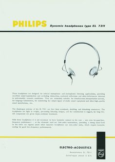 Philips Retro – 1970s Headphone Ads Headphones by Philips Communications, via Flickr
