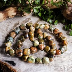 Rainforest jasper is a wish granting stone. It helps with manifestation, especially if what you're trying to manifest is physical wellness and abundance.