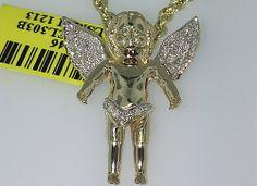 10K Gold Micro Angel 0.40CT Diamonds #http://www.pinterest.com/kingjohnny1/