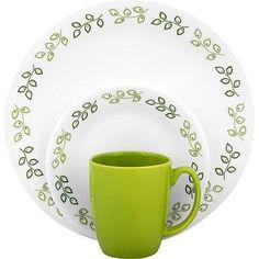 Corelle dishes for c&ing  sc 1 st  Pinterest & Corelle Livingware Garden Sketch Bands 16-Piece Dinnerware Set ...