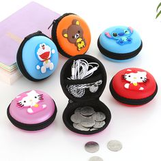 New Cute Girls Mini Coin Purse Brand Child Silicone Round Small Pouch Wallet Case Box Rubber Key Animal Bag for Earphone #men, #hats, #watches, #belts, #fashion, #style