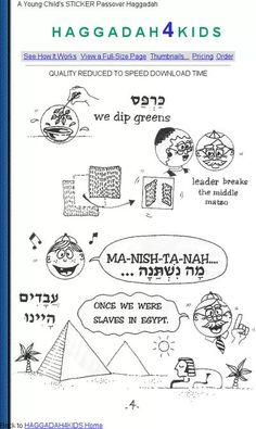 haggadah pictures for kids - Google Search