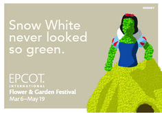 Snow White never looked so green. #EpcotInSpring #WaltDisneyWorld