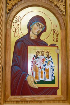 Saint Macrina The Teacher, the eldest sister of renowned Church fathers Saint Basil the Great and Saint Gregory of Nyssa (link)
