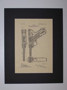 Luger Recoil Loading Small Arms 1904 sheet 4 Patent drawing HistoricPatentArt.com Gun