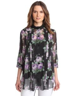 Anna Sui Women's Cabbage Rose Print Crinkle And « Impulse Clothes