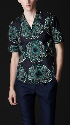 another great African printed shirt by Burberry
