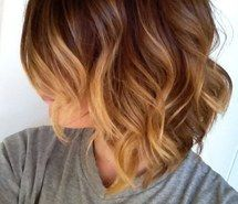 Inspiring picture brown, blond, girl, hair, ombre, teenager, waves. Resolution: 480x665. Find the picture to your taste!