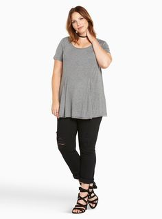 3/4 Sleeve Tunic Tee,