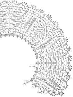 Trendy Knitting Charts Hats Yarns Ideas - Her Crochet Crochet Collar Pattern, Col Crochet, Crochet Lace Collar, Crochet Buttons, Crochet Diagram, Crochet Poncho, Crochet Chart, Crochet Motif, Knitting Charts