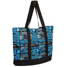 Women's Carolina Panthers Collage Tote Bag - NFL #ForeverCollectibles #CarolinaPanthers