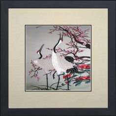 King Silk Art 100% Handmade Embroidery Mixed Group Feng Shui and Health Japanese Cranes & Cherry Blossoms Chinese Print Large Framed Wildlife Bird Painting Wedding Anniversary Birthday Party Gift Oriental Asian Wall Décor Artwork Tapestry Hanging Picture Gallery 31074WFG King Silk Art http://www.amazon.com/dp/B00KIB2KV8/ref=cm_sw_r_pi_dp_hWSoub0RX50ND