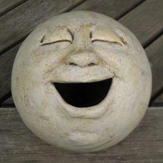 Witch Garden: #Witch #Garden ~ Laughing moon garden head.