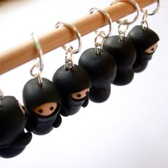 Ninja Knitting Stitch Markers by Lilley on Etsy, £19.00  I need these in my life!