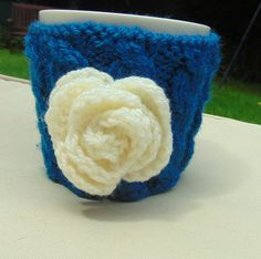 Hand knitted Mug Cosy by LittleDaisyKnits on Etsy