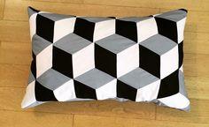 Patchwork Kissen tumbling blocks | feschvonlesch