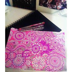 Hidden Talent #drawings #illustrations #flowers #pink #purple #colours #happiness #work #flowerdrawings