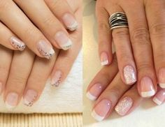 Modele unghii french cu sclipici Nailed It, Red Glitter, French Fashion, Nail Designs, Hair Beauty, Sparkle, Nails, Simple, Ideas