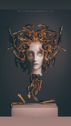 Artist Creates Sculptures Of Ancient Deities And Mythological Creatures With A Modern And Surreal Twist - Sculpture - Print the sulpture yourself - Artist Creates Sculptures Of Ancient Deities And Mythological Creatures With A Modern And Surreal Twist Gothic Fantasy Art, Vaporwave Art, Roman Fashion, Greek Art, Mythological Creatures, Gods And Goddesses, Surreal Art, Aesthetic Art, Medusa