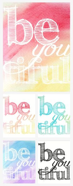 Free Watercolor Printables from We Lived Happily Ever After