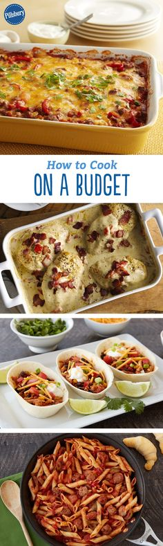 How to Cook on a Budget - From making the most of what's already in your pantry to every tip you need for meal planning, learn how cooking delicious (and easy) meals on a budget is totally doable.