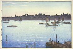 Sumida River, Afternoon  by Hiroshi Yoshida, 1926