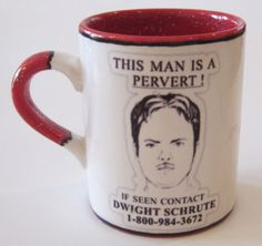 the office mugs. the office tv show inspired dwight this man is a pervert! regular or travel mug mugs u