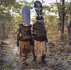 Africa | Kambulo and Kapada (They Start the Dance), Makishi Masquerade, Kaoma, Zambia | © Phyllis Galembo, 2007