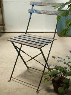 Chair フレンチアンティークフォールディングガーデンチェア椅子2063 インテリア 雑貨 家具 Antique ¥17800yen 〆07月12日