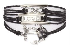 The inner state of balance is difficult to achieve, but through realization, it's closer than you think. The Ashley Bridget Balance Bracelet has an infinity charm, love block charm, and anchor charm that are separated by small steel pipe to signify compartmentalization. http://www.ashleybridget.com/products/balance