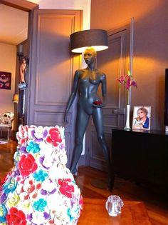 Luminaire lampadaire lampe mannequin abat jour