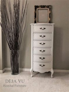 We bring life back to antique & vintage furniture by painting in neutral tones to make. Antique Bar, Antique Vanity, Vintage Dressers, Vintage Furniture, French Country Coffee Table, Barrel Table, Hand Carved, Facebook, Antiques