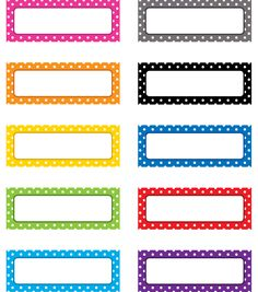 Polka Dots Magnetic Labels, 3 Packs By Teacher Created Resources Classroom Labels, Classroom Themes, Classroom Teacher, Classroom Supplies, Preschool Themes, Preschool Printables, School Supplies, Name Tag For School, Subject Labels